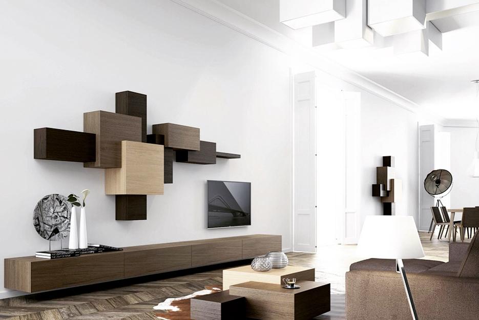 Composicion stanterias salon muebles baigorri