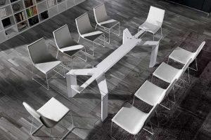 Mesas salon de cristal muebles Baigorri